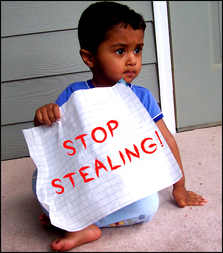Stealing is Against the Law