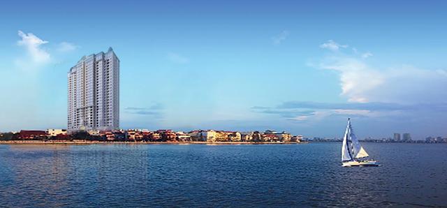Căn hộ D'eldorado Phú Thanh nhìn thẳng ra Hồ Tây.