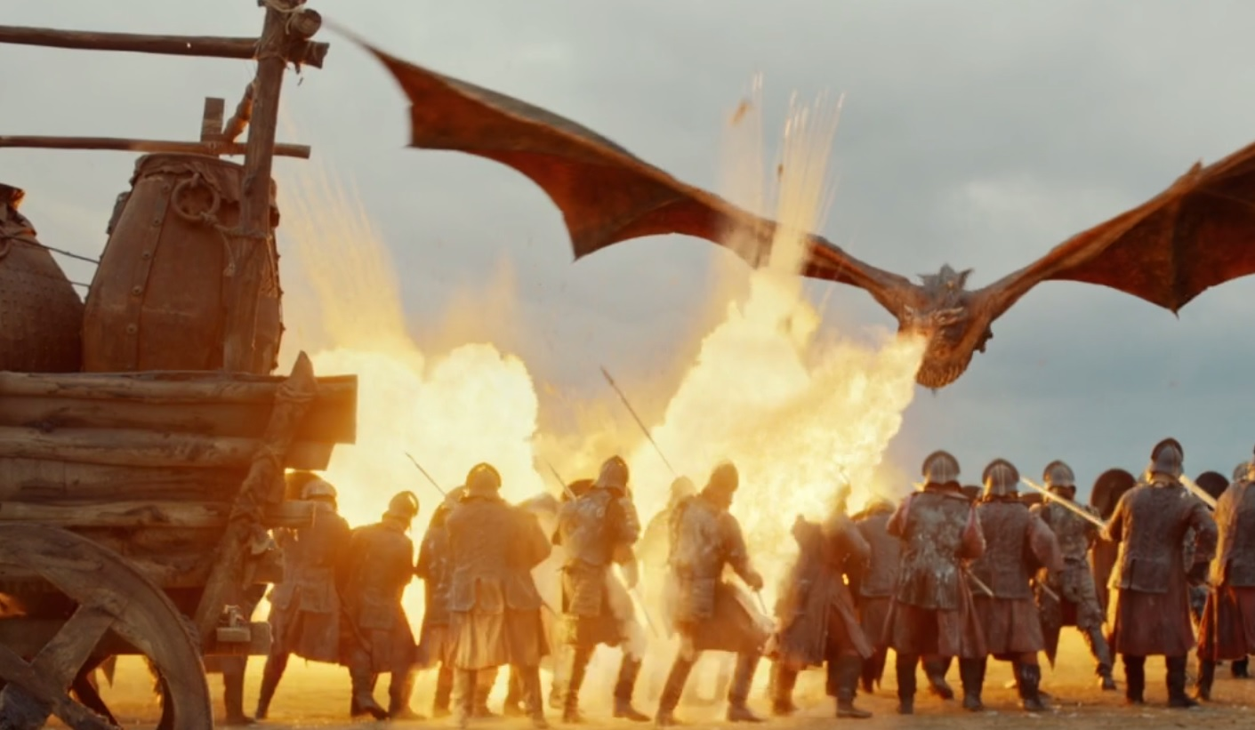 Lannister Army and Dragon