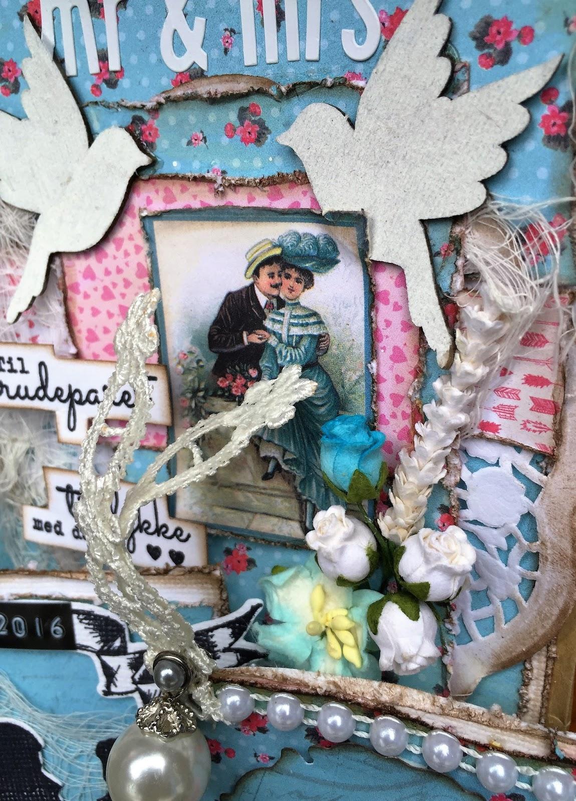 scrappiness  gavepose med sm u00e5 bryllupskort  inspirasjon