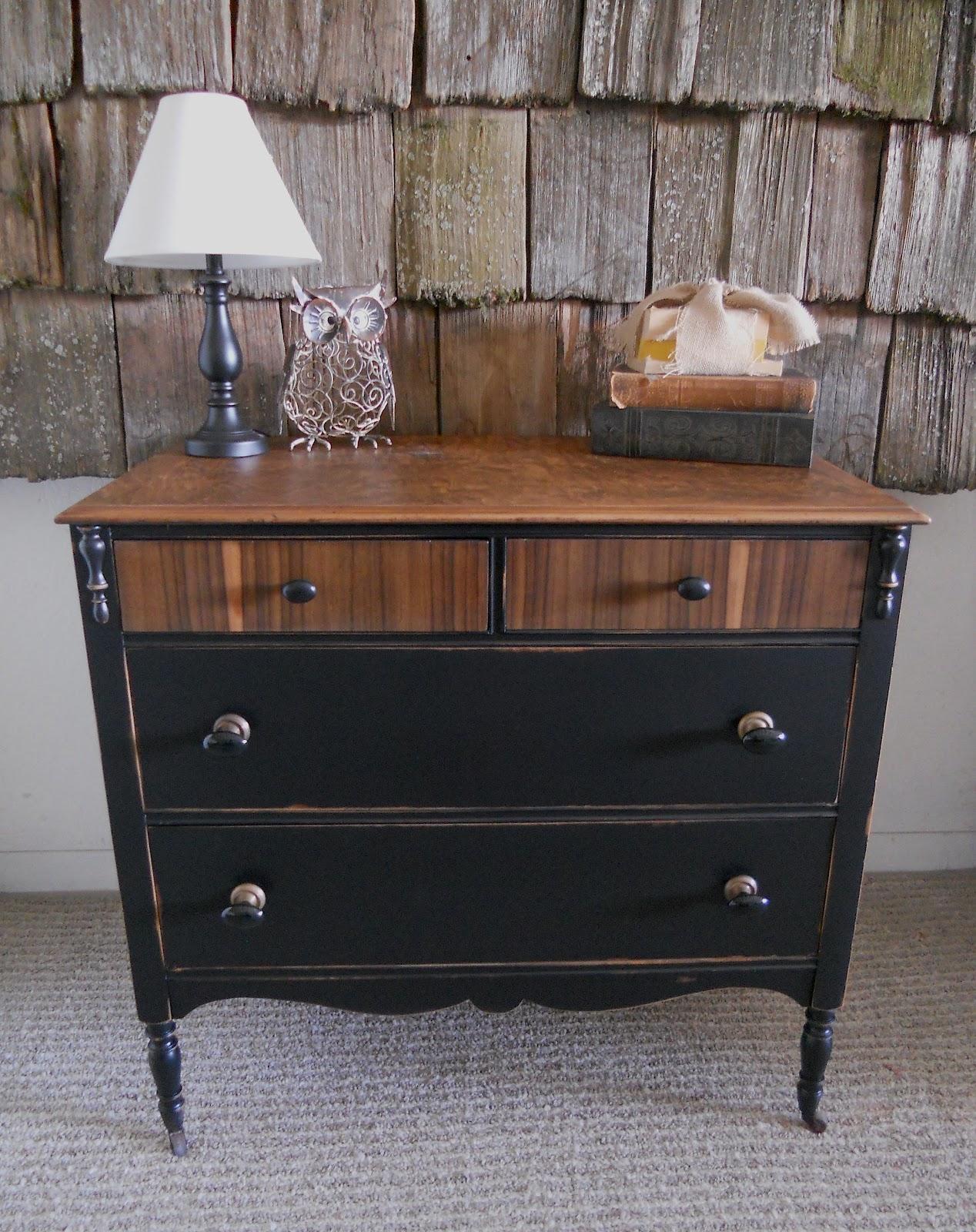 createinspire Antique dresser black  wood