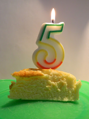 Garden muses-not another Toronto gardening blog fifth anniversary picture of Japanese cheesecake slice.jpg