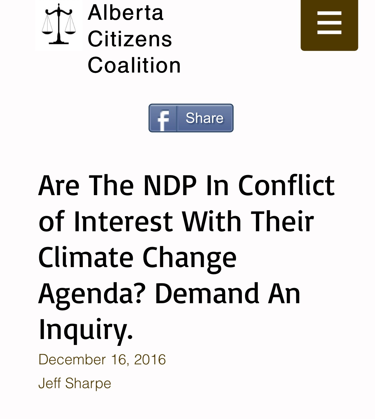 Deceember 16, 2016: Green Corruption Files Found at Alberta Citizens Coalition