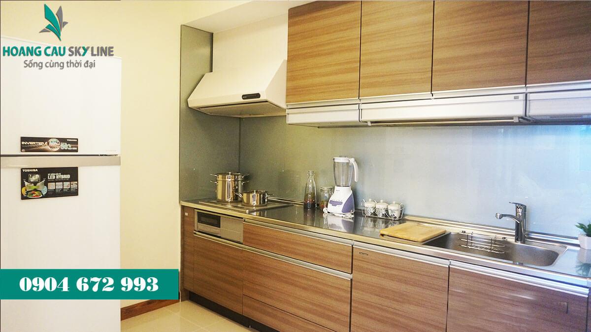 Nhà bếp dự án chung cư Hoàng Cầu Skyline