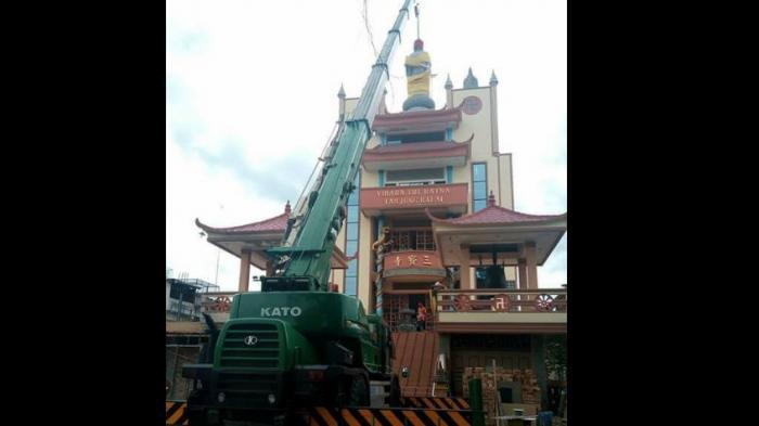 Heboh! Penurunan Patung Buddha Di Tanjung Balai, Netizen Prihatin Akan Bangsa Ini