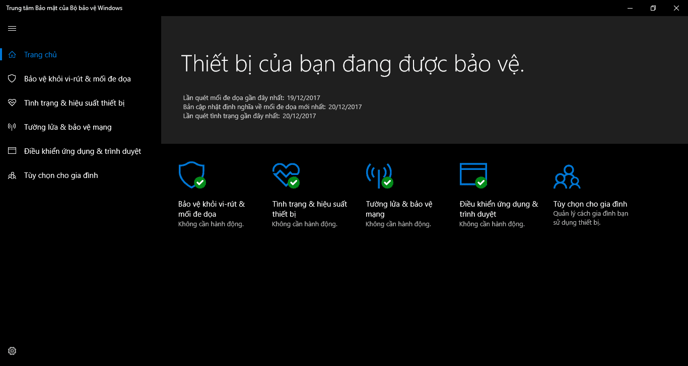 Hướng dẫn tắt Windows Defender Antivirus trong Windows 10, version 1709