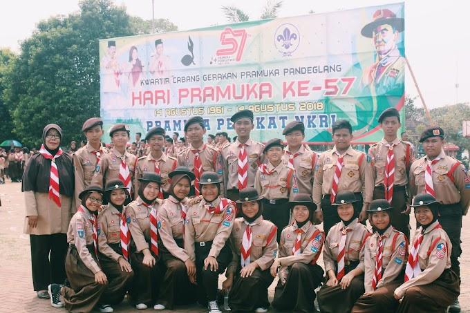 Upacara peringatan Hari Pramuka ke-57 tahun tingkat Kwarcab Pandeglang