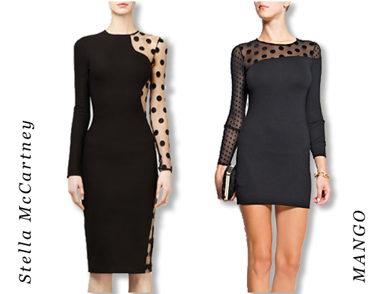 d12f5d3c058c One of my favorite polka dot pieces of the season is this Stella McCartney little  black dress (left). We ve found this more affordable dress by MANGO ...