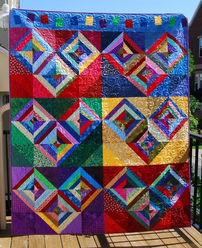 Half Square Hearts Quilt Free Pattern