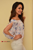 Actress Pragya Jaiswal Latest Pos in White Denim Jeans at Nakshatram Movie Teaser Launch  0035.JPG