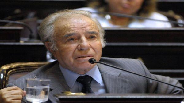 Prohíben a expresidente argentino Menem ser candidato a senador