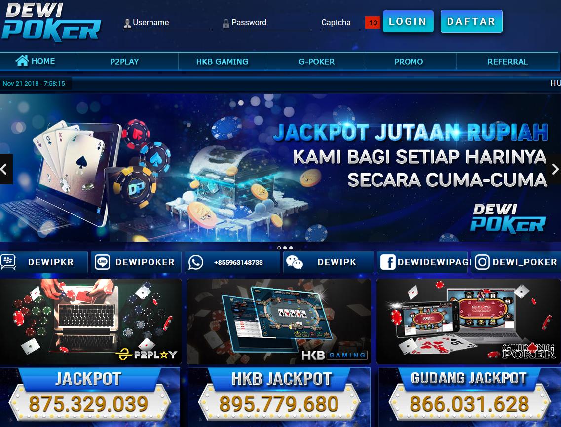 Dewipoker agen judi poker online, dominoqq, bandar ceme online terpercaya di indonesia