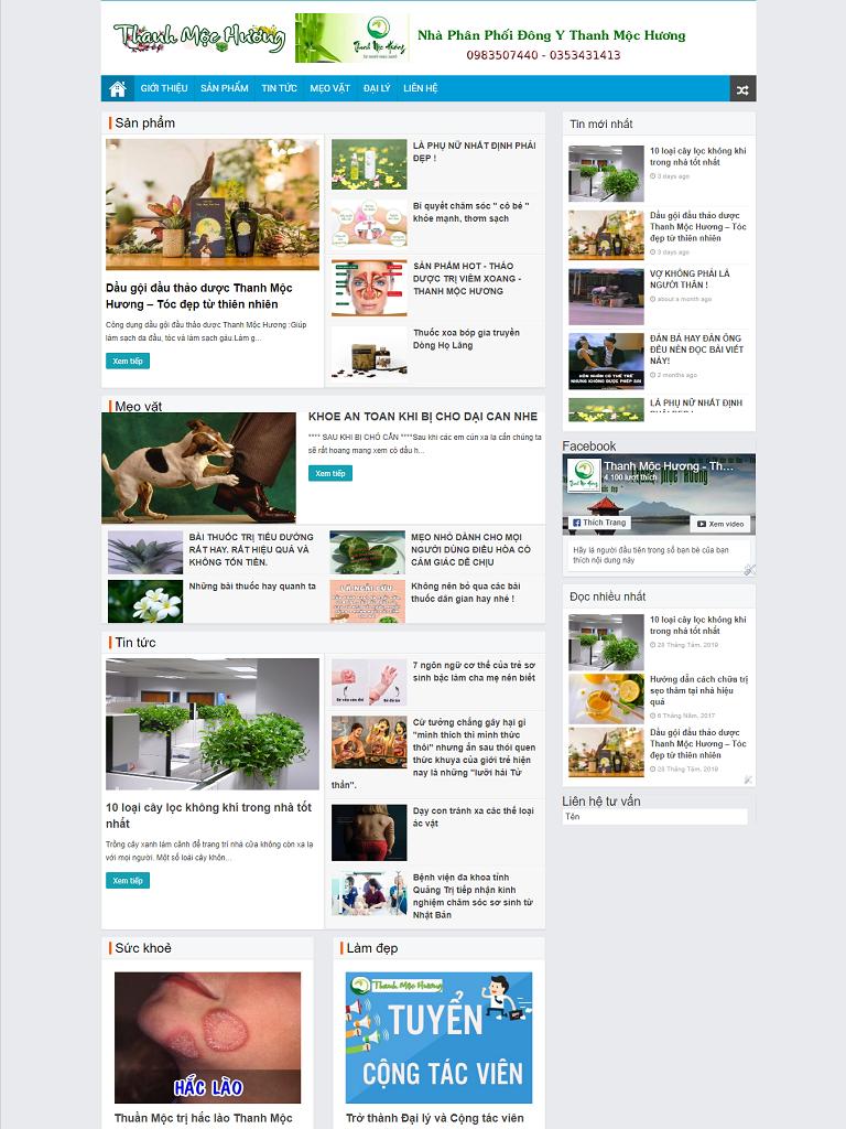 Template Blogspot Tin tức Thanh Mộc Hương - Ảnh 1