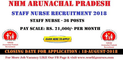 Staff Nurse Vacancy in NHM Arunachal Pradesh