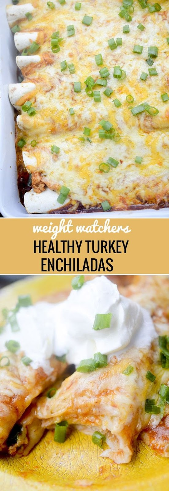 HEALTHY BAKED TURKEY ENCHILADAS
