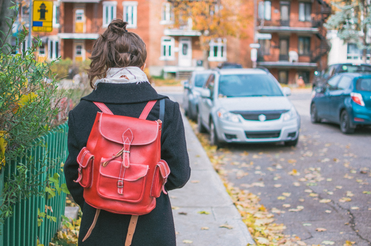 Red Backpack Girl Naomi Larocque for Fashion Is My Religion