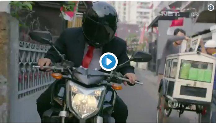Opening Ceremony Asian Games,  Jokowi Ajari Naik Motor ugal-ugalan