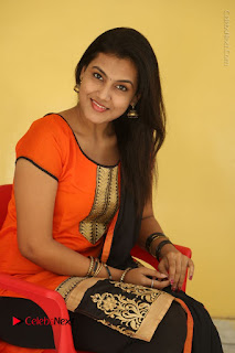 Telugu Actress Chandana Stills in Salwar Kameez at Karam Dosa Movie Press Meet  0065.JPG