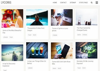 Lycoris photo gallery blogger template