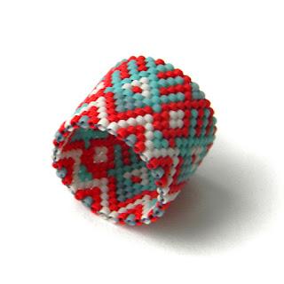 Широкое кольцо из бисера (с орнаментом) россия симферополь