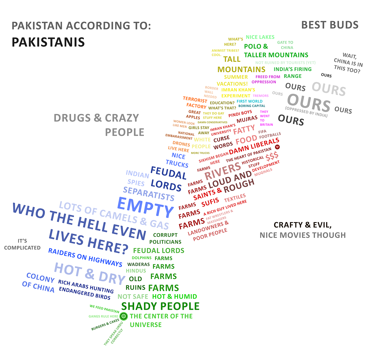 Pakistan stereotype map