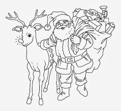 Maestra de Primaria: Los renos de Santa Claus. Dibujos para colorear.