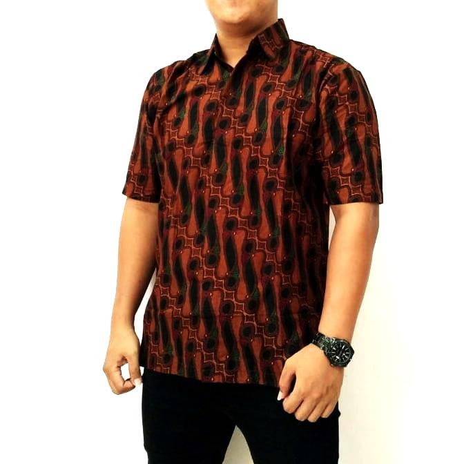 Harga Baju Batik Pria Lusinan: Contoh Model Baju Batik 2018 Kemeja Batik Kombinasi Pria