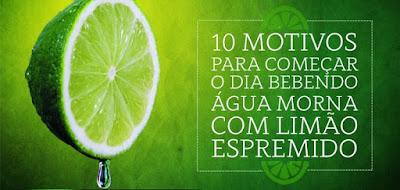 10 motivos pra começar o dia com limão e agua morna