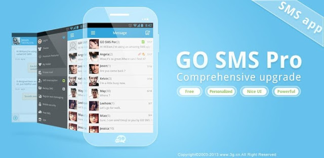 Download Go SMS Pro Premium Versi 7.08 Apk Unlocked Terbaru