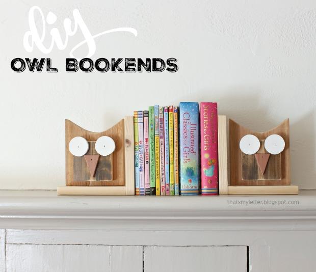 diy scrap wood owl bookends