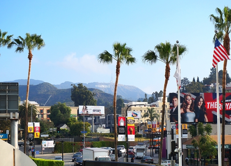 Euriental || fashion & luxury travel || view of Hollywood sign from Hollywood & Highland