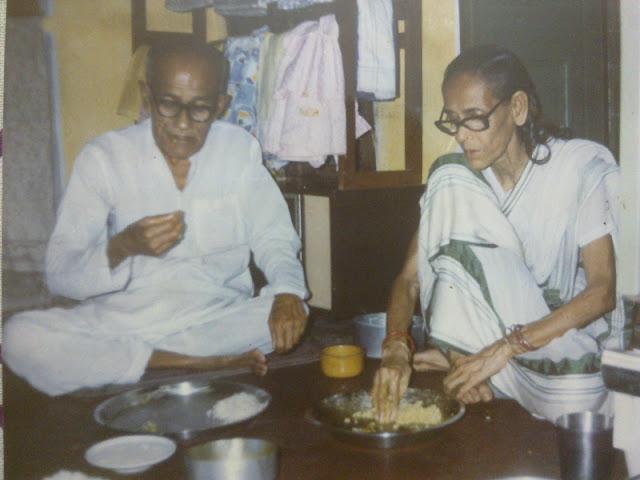 Bholanath Mukhopadhyay and Nilima Mukhopadhyay around 1995
