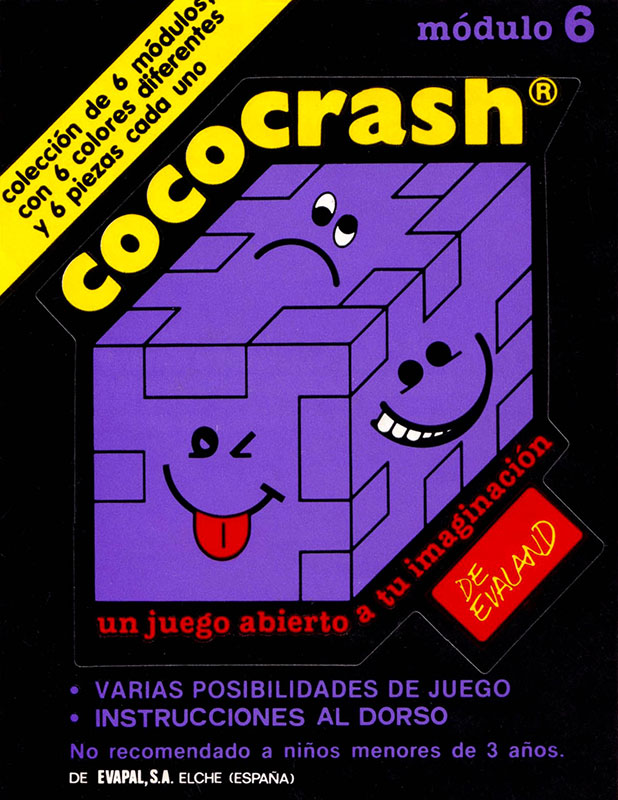 Cococrash 1986 Pegatina nivel 6