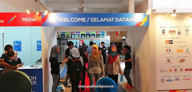 Foyer; Sabah Job & Entrepreneur Fair 2018 @ Kompleks Sukan Kota Kinabalu (Likas)