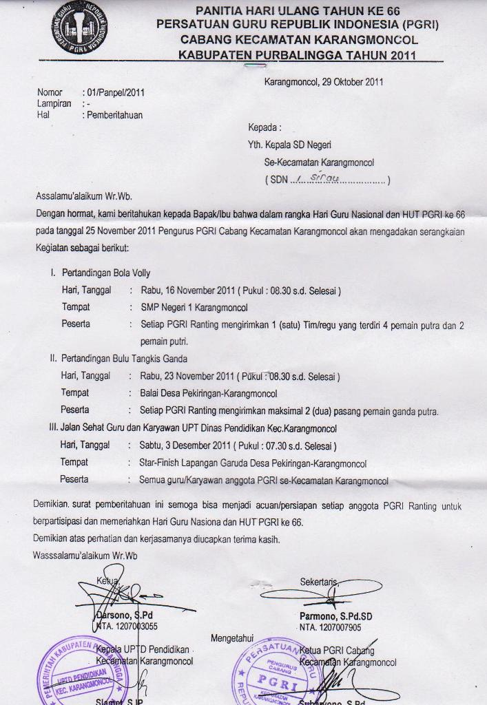 Contoh Surat Undangan Dari Kepala Desa - Contoh Isi Undangan