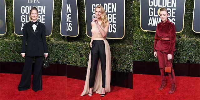 Actrices con muchos 'pantalones' en los Golden Globes 2019
