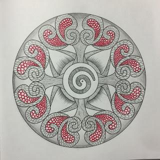 mandalas dibujadas en papel