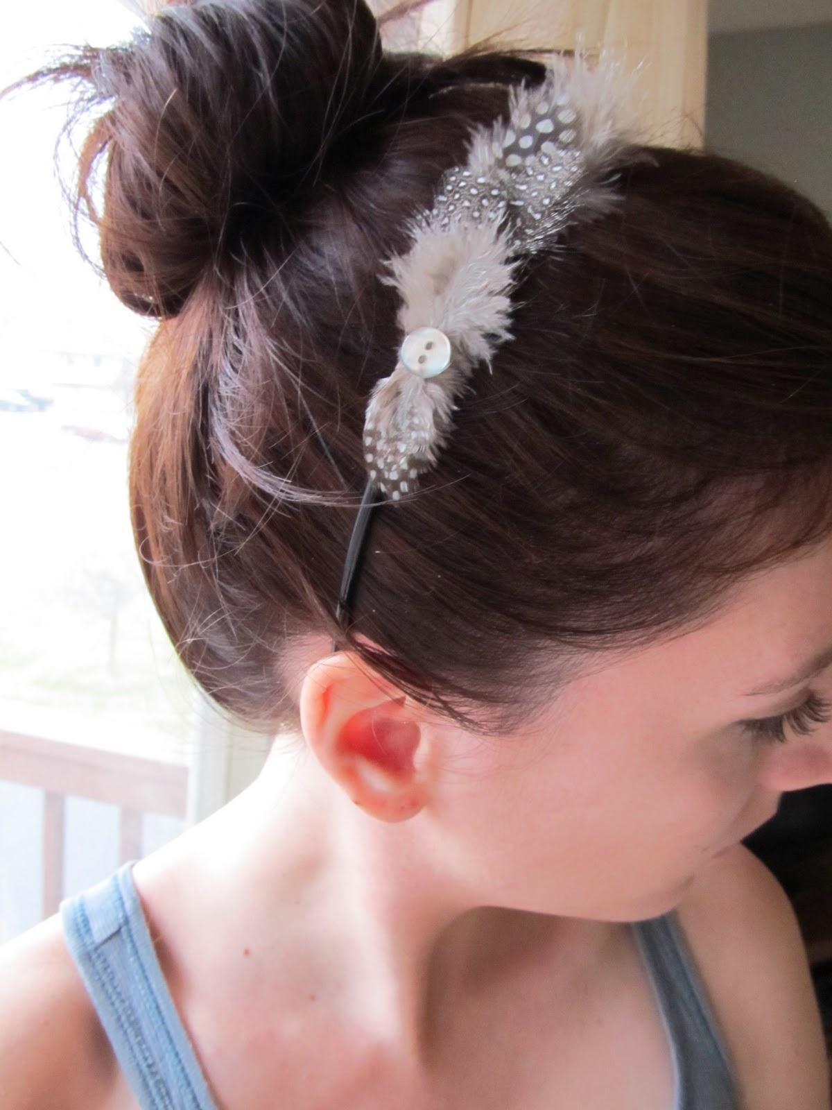 Posy The Porcelain Pig Diy Feather Headband
