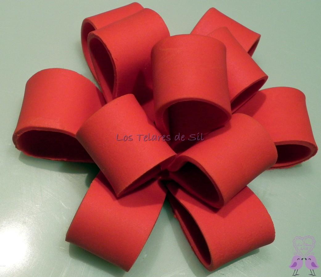 Lazo de fondant y tapa caja regalo - Lazos grandes para regalos ...
