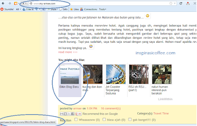 proses redirect blogger