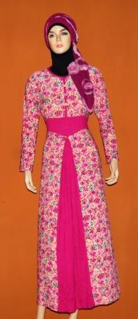 Gamis Korea Bunga Gkm4486 Grosir Baju Muslim Murah Tanah Abang