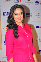 Sree Mukhi in Pink Kurti looks beautiful at Meet and Greet Session at Max Store (33).JPG