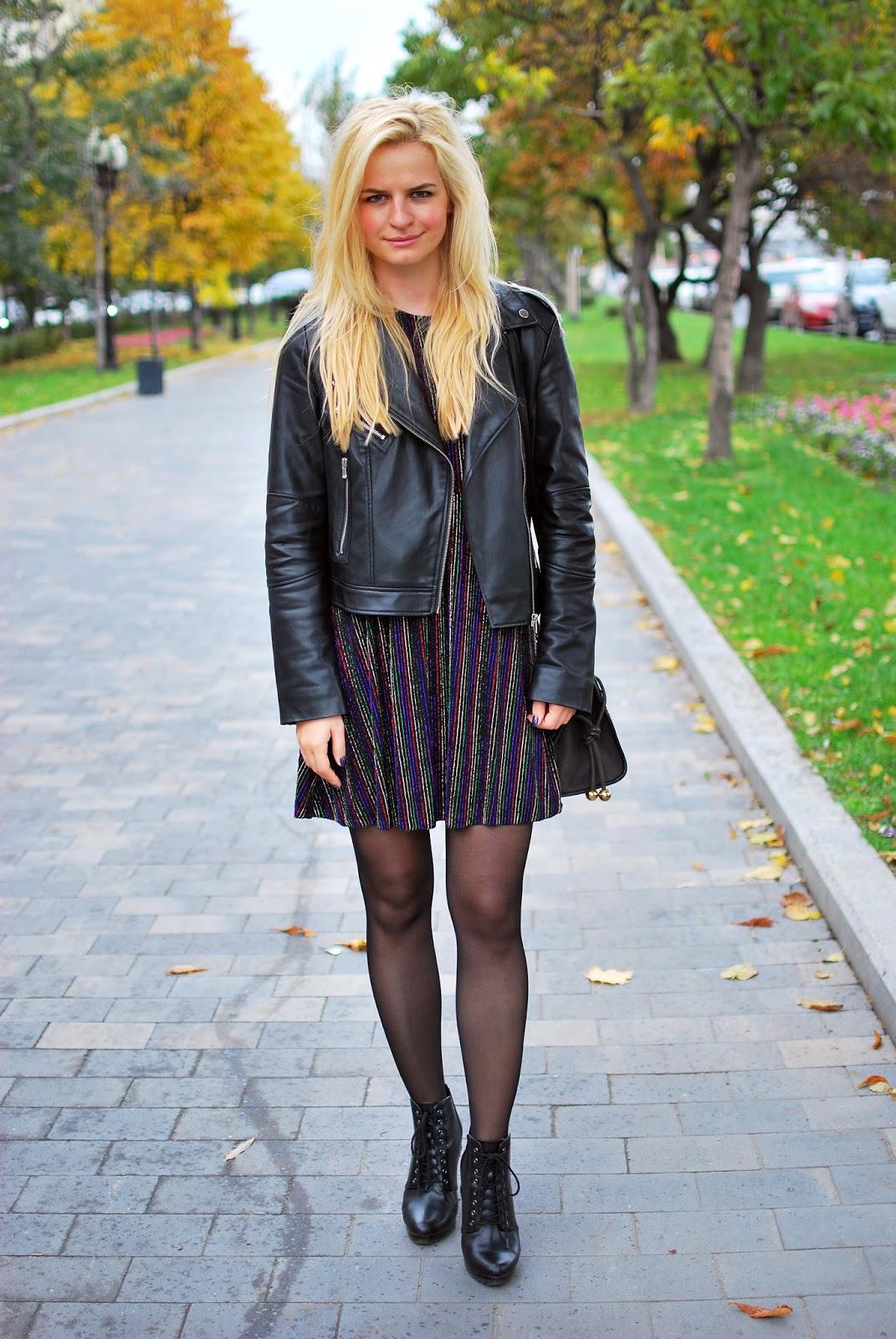 street fashion 2016, street style moscow, уличная мода 2016, с чем носить кожаную куртку