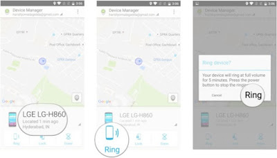 Android Device Manager Ring Not Working