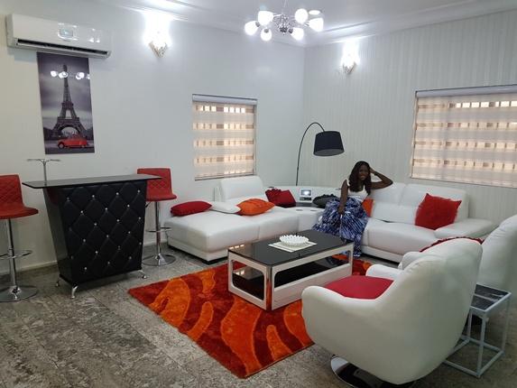 Linda Ikeji's personal lounge