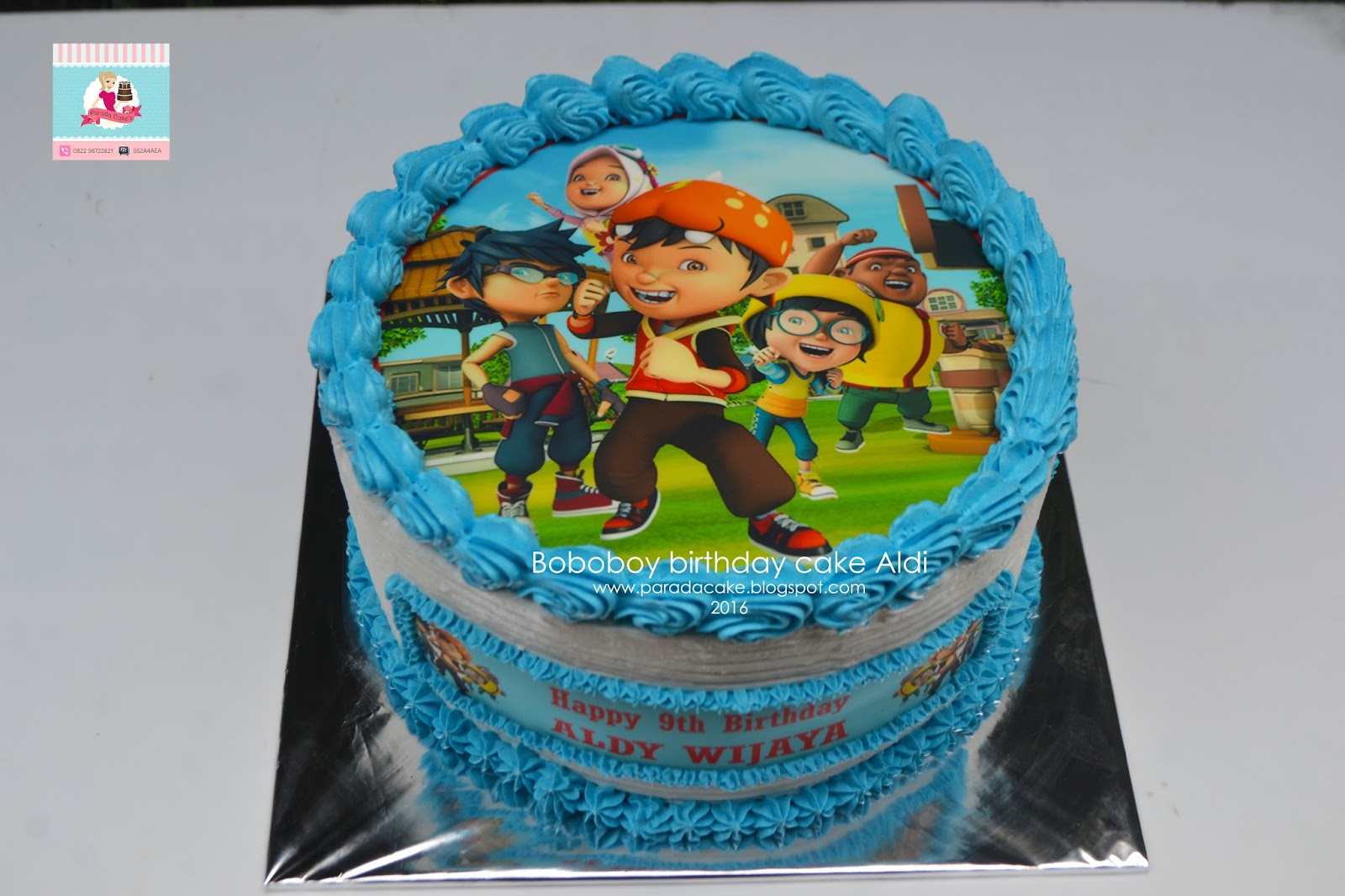 Parada Cake S Boboboy Birthday Cake Aldi Raya Joglo Jakarta Barat
