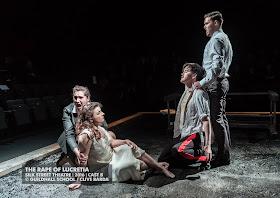 Elizabeth Karani, Karzyna Baljeko, Christopher Cull, Thomas Atkins - Britten's The Rape of Lucretia at Guildhall School - photo Clive Barda