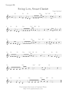 Swing Low, Sweet Chariot, sheet music for trumpet