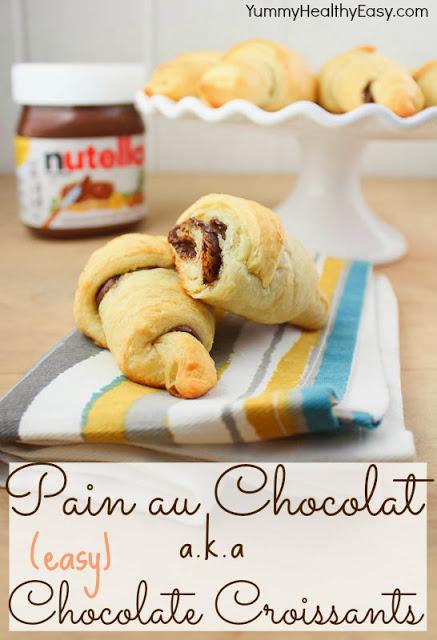 pain au chocolat chocolate croissants