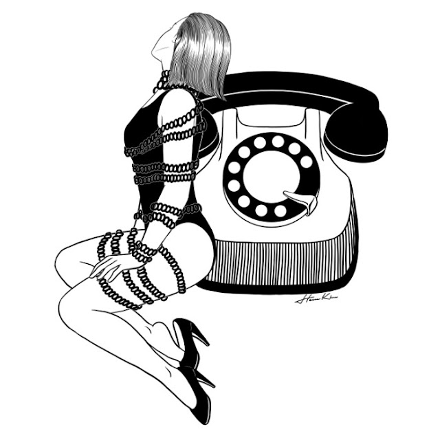 """Waiting for your call"" by Henn Kim 